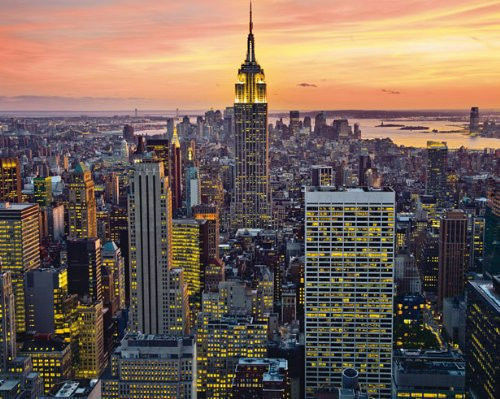EMPIRE STATE BUILDING NEW YORK CITY POSTER 16x20 CITYSCAPE SKYLINE NYC 7160