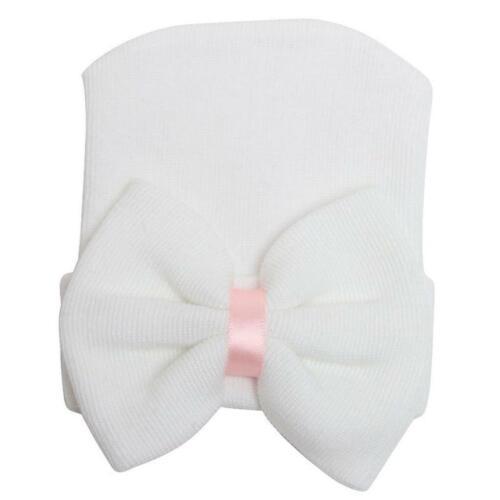 Cute Newborn Baby girl Infant Girl Toddler Bowknot Beanie Hat Unisex Cap