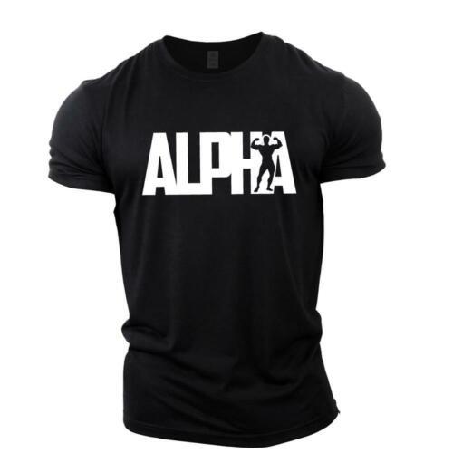 ALPHA Bodybuilding T-ShirtGym Top Vest Stringer Training Motivation GYMTIER