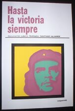 CHE GUEVARA Cuban Silkscreen Pop-Art Movie Poster HASTA LA VICTORIA SIEMPRE Cuba