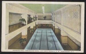 Postcard Washington Dc Ambassador Hotel Indoor Swimming Pool 1920 39 S Ebay