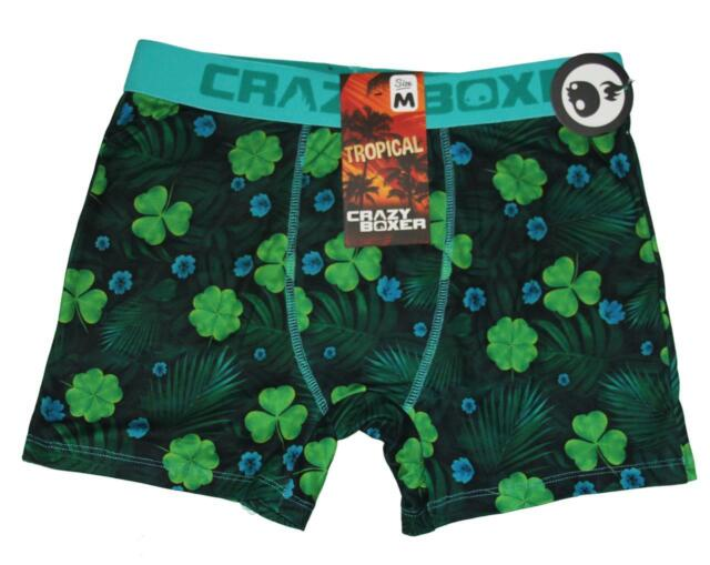 Mens Soft Breathable Green Lucky Clover Leaves St Patricks Day Underwear Boxer Briefs