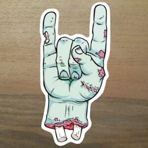 2x-Metal-Zombie-Aufkleber-Sticker-Rock-Monster-Metall-Rocker-Musik-Knochen-Dead