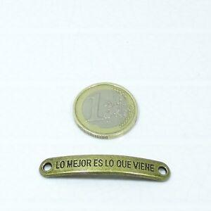 15-Chapas-Para-Pulsera-45x7mm-T270-Cobre-Bracelet-Plate-Copper-beads-Frases