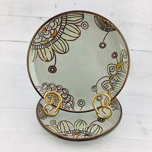 Threshold-VERMILLION-Stoneware-Geometric-Floral-Gray-8-3-8-034-Salad-Plates-Set-2