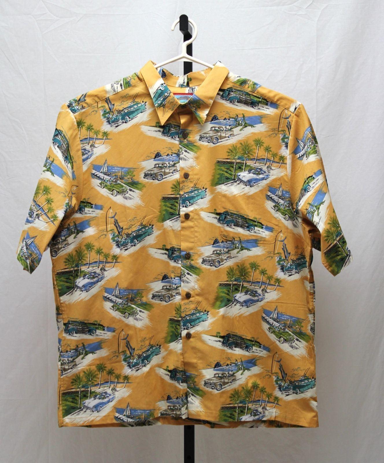 Reyn Spooner Joe Kealoha's Weekend Motor Hawaiian Size  XXL Down Shirt Size
