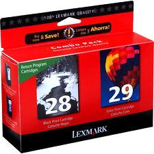 2 Pack Lexmark 28 Black 29 Color Genuine Ink Cartridges For X Series X5495