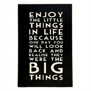 Enjoy The Little Things In Life Large Wooden Hanging Message Plaque