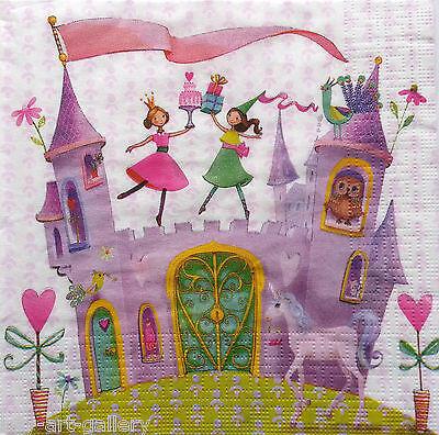paper napkins decoupage x 2 vintage fairies 33cm