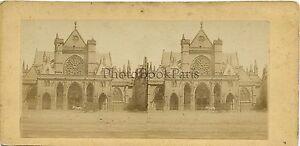 Saint-Germain-L' Auxerrois Parigi Foto Stereo Vintage Albumina Ca 1865