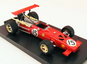 Brumm-1-43-escala-Diecast-R301-Ferrari-312-F1-Espana-GP-1969-C-Amon