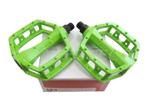 "New VP-565 BMX MTB Cruiser Bicycle Bike Pedals 1//2/"" Green"