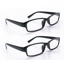 Reading Glasses 2 Packs Mens Unisex Womens UV Reader Trendy Designer