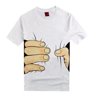 3D Printed T-shirt Funny HOT  NEW Big Tee Short Fashion Men/'s Hand Shirt Sleeve