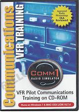 Comm1 VFR Radio Simulator - VFR Pilot Communications Training on CD-ROM