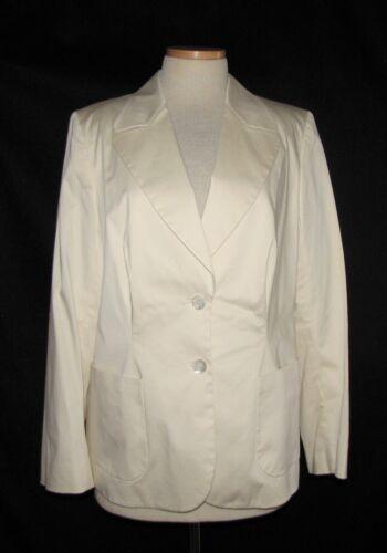 Stretch Skræddersyet Front Blazer Ivory Størrelse Escada Button 46eur Rayon Jacket PTqnZUwA