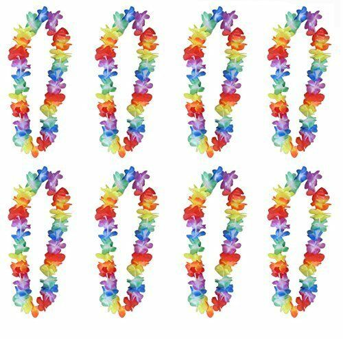 6,12,24,48 HAWAIIAN LEI HULA ALOHA HAWAII HEN STAG FLOWER GARLAND PARTY LOT