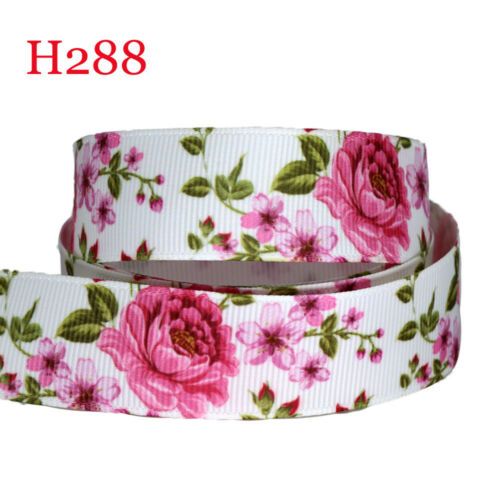 NEW Lot DIY Printed Grosgrain Ribbon hairbow Wholesale Wedding Gift Wrap Ribbon