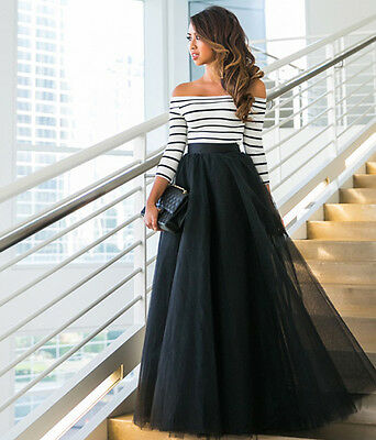 Sexy Lace Formal Evening Party Cocktail Bridesmaid Wedding Prom Gown Long Dress