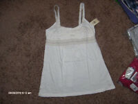 Abercrombie & Fitch Pretty Ivory Tie Back Top