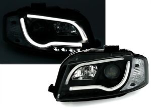 2 led headlight lamps tlf audi a3 8p 2003 a 2008 a black background and sportback ebay