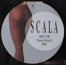 New Pack Of 3 Scala Active Bio Crystals Anti-Cellulite Black Slimming Tights L