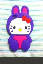 Hello Kitty Bunny Purple Silicone Case For I-Pod Touch 4Th Gen