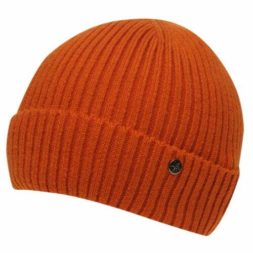 MENS ORANGE NO FEAR FISHERMANS DOCK KNIT KNITTED HAT BEANIE BEENIE BEANY