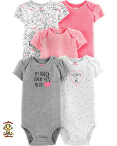 Carter-039-s-Bodysuits-5-Pack-Set-6-months-Authentic-and-Brand-New