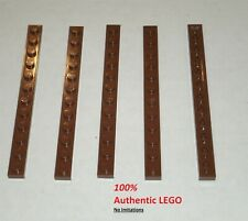 4 X Lego 60479 Reddish Brown 1x12 Plate