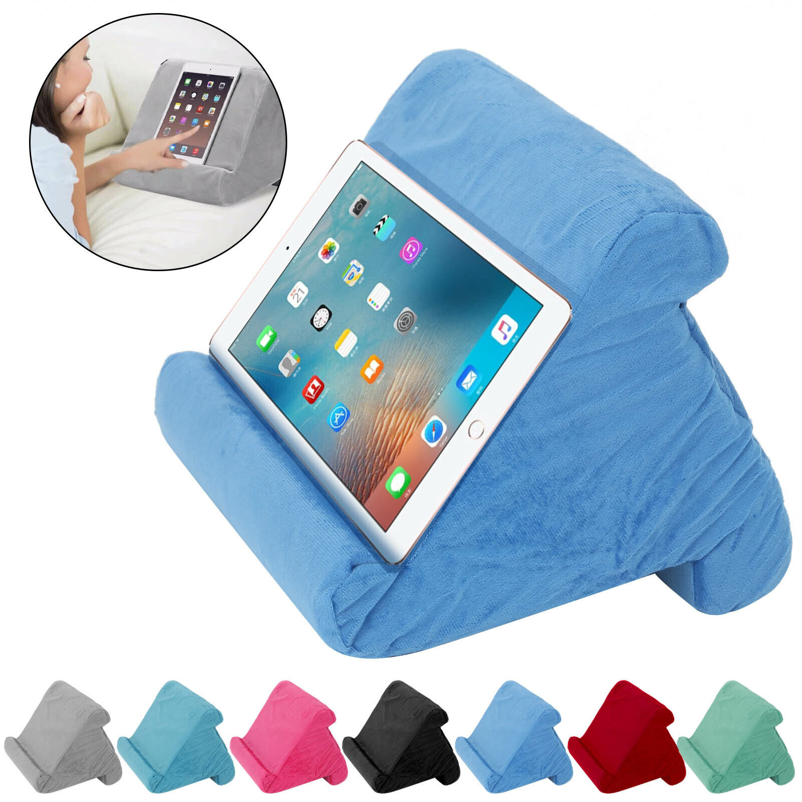 2021 Multi- Soft Pillow Lap Stand For IPad Tablet Cushion Phone Laptop Holder UK