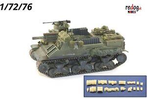 1-72-M7-Priest-US-Howitzer-Tank-militaire-modele-a-l-039-echelle-Arrimage-Kit