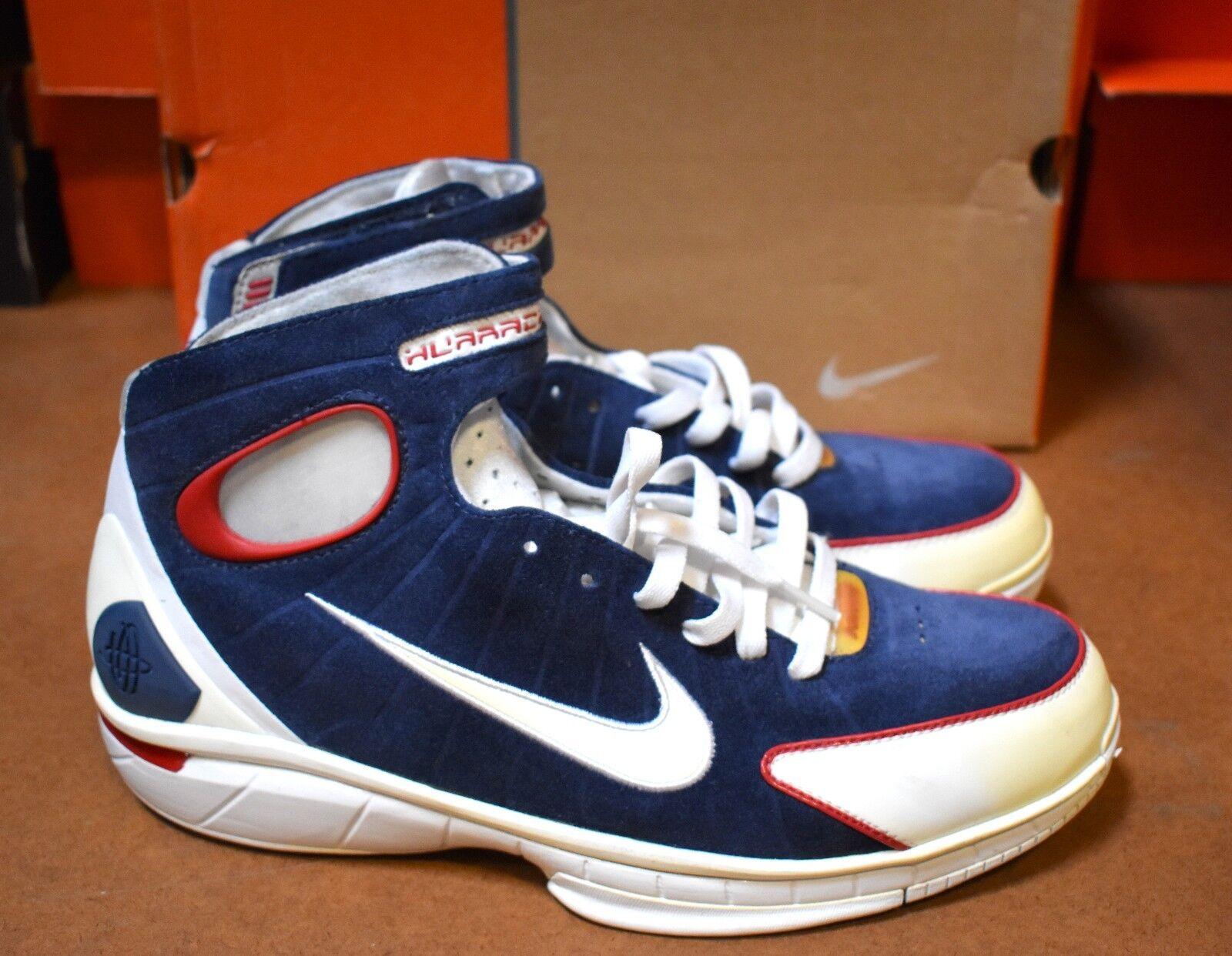 Nike OG Air Zoom Huarache Huarache Huarache Midnight Navy bianca Varsity rosso 308475 411 Dimensione 11.5 e91585