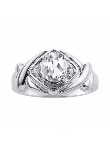Details about  /Diamond /& White Topaz Ring Set In Sterling Silver Color Sto XO Hugs /& Kisses