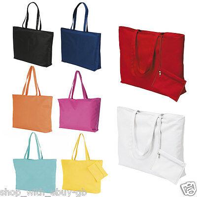 Damen Strandtasche & Portemonnaie - Groß Sommer Einkaufstasche - Baumwolle