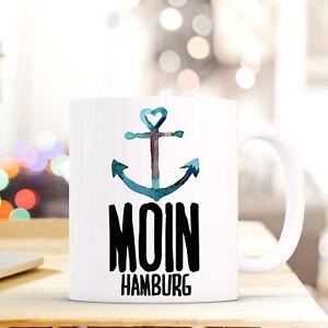Tassen Tasse Becher Kaffeebecher Geschenk Kaffetasse Anker Spruch Moin Hamburg Ts647 Ruf Zuerst Trinklerntassen & -becher