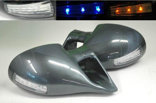 M3 Front Carbon Fiber LED Side Power Mirrors Pair FITS Nissan 350Z Z33 03-09