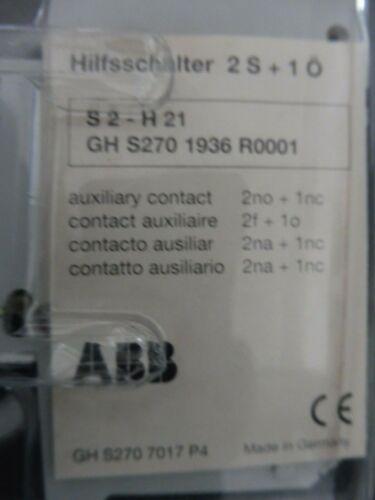 H21; GH S270 1936 R0001; 2 S 1 x ABB Hilfsschalter S2 1 Ö