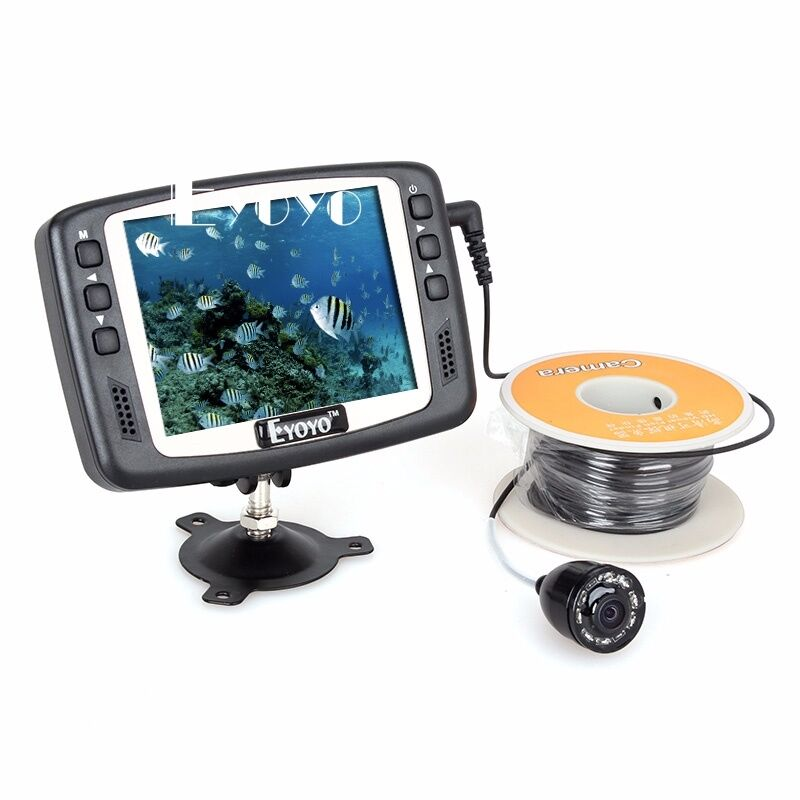 Eyoyo 3.5  Monitor 1000TVL Fishing Camera 130°Wide Angle 15M Fish Finder Ice Sea
