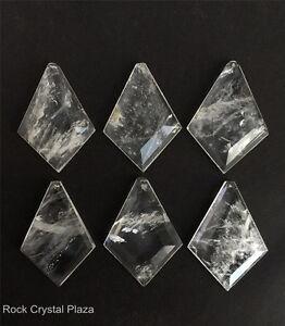 Chandelier Pendants Parts: Image is loading Rock-Crystal-Quartz-Chandelier-Pendants-Parts-Prisms-Flat-,Lighting