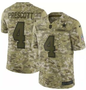 NIKE DALLAS COWBOYS DAK PRESCOTT 2018 Salute To Service Jersey Men s ... 92bb3cb52