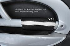 BLACK & WHITE 2x PANTHERS PORTA BRACCIOLO IN Pelle Cover Adatta per BMW Mini Cooper 01-03