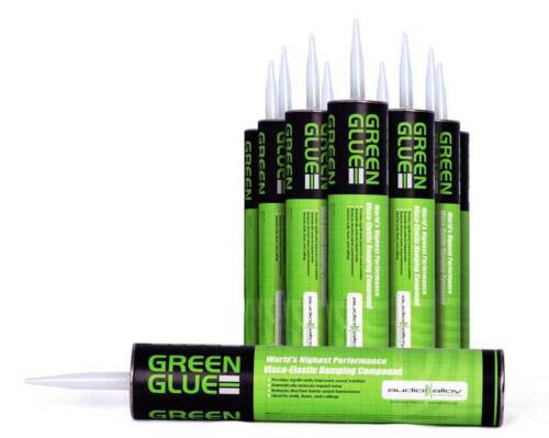 Free Next Day Delivery Sound Proofing Compound Box of 12 Green Glue