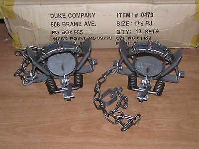 2 Duke # 1 1//2 Rubber Jaw Coil Spring Trap 0473 Raccoon Mink Nutria Trapping