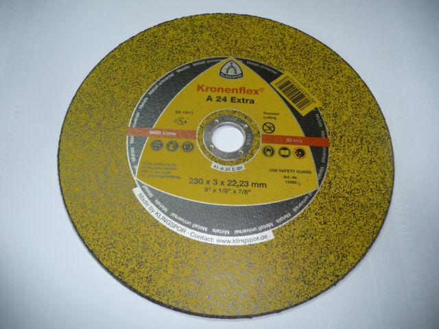 10x Klingspor Trennscheibe 13492 Ø 230 x 3 x 22 A 24 EX GER Metall universal