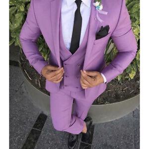 Image Is Loading Men 039 S Purple Wedding Suit Slim Fit