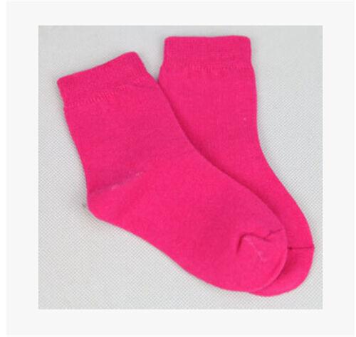 New boys girls Cotton Socks Cute Candy Color Short Socks Kids Sport Socks YF