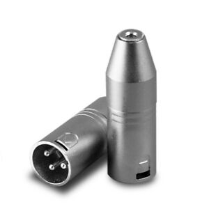 XLR-3-Broche-Fiche-Male-a-3-5MM-Trs-Jack-Femelle-Micro-Adaptateur-Audio-Super