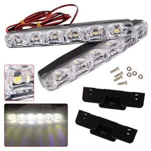 Car-Light-8LED-DRL-Fog-Driving-Daylight-Daytime-Running-LED-White-Head-Lamp-Auto