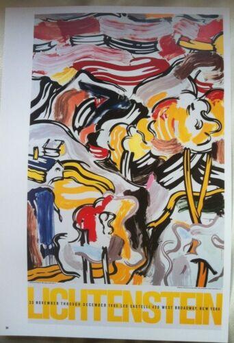 Roy Lichtenstein Leo Castelli Gallery NY 1985 Pop Art Poster   P:84